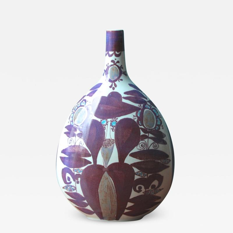 Kari Christensen Faience Bottle Vase by Kari Christensen for Royal Copenhagen