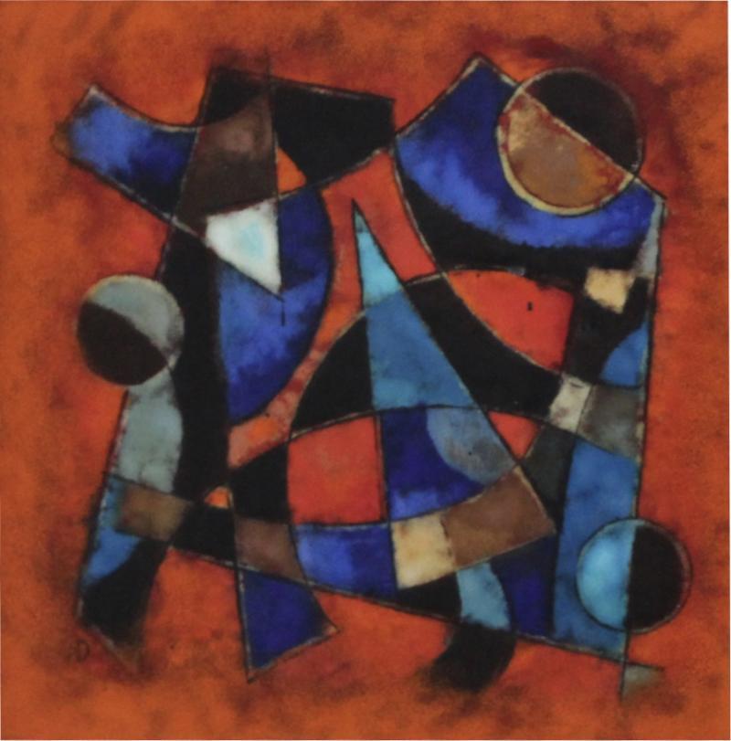 Karl Drerup Karl Drerup Enamel On Copper Abstract Art Work
