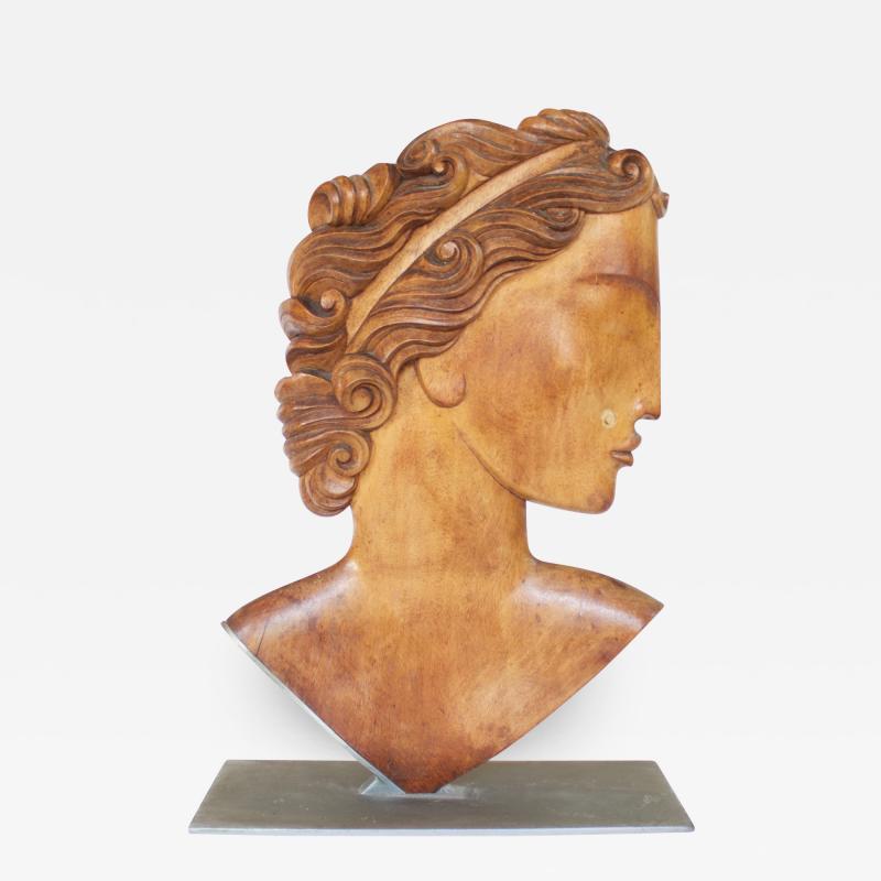 Karl Hagenauer Hagenauer RENA carved wood head of a Roman man Austria 1935