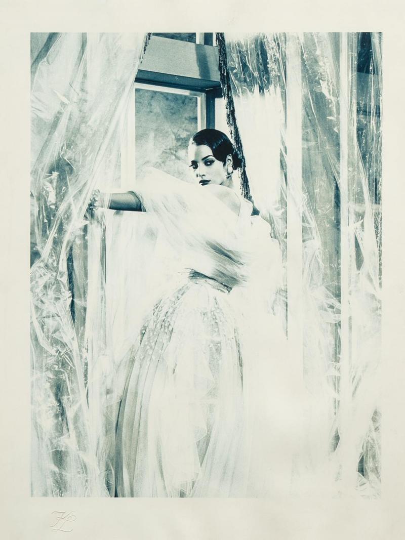 Karl Lagerfeld Original photograph of Christy Turlington by Karl Lagerfeld