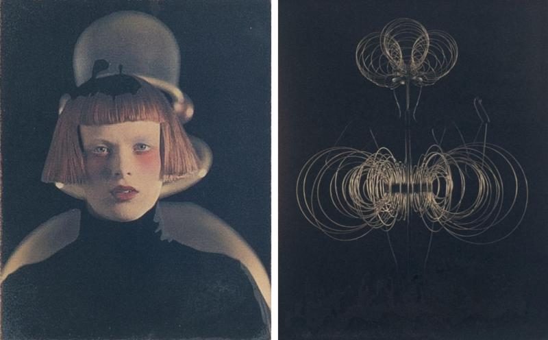 Karl Lagerfeld Pair of photographs of Karen Olsen kinetic study by Karl Lagerfeld