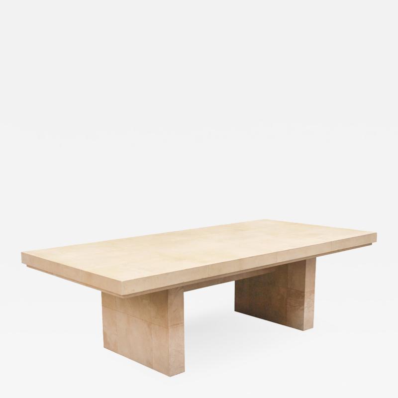 Karl Springer 1970s Bauhaus Dining Table