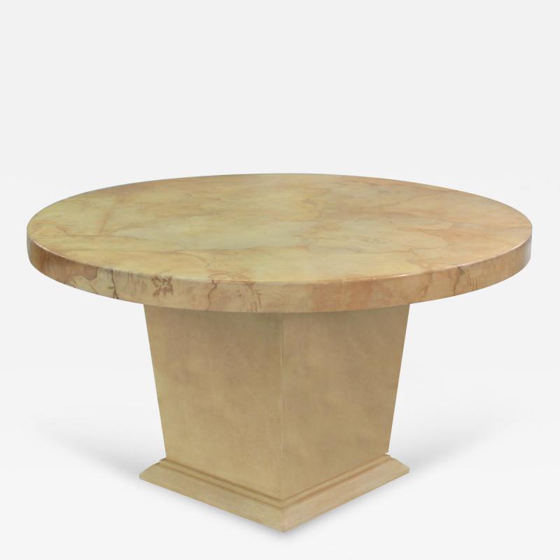 Karl Springer Center Dining Table by Karl Springer