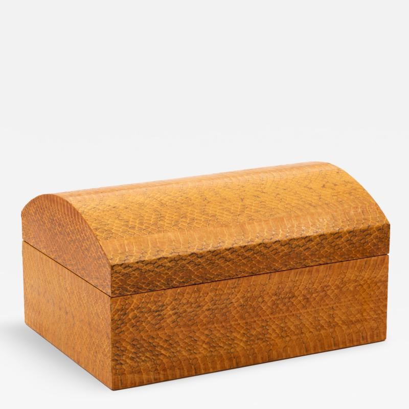 Karl Springer Karl Springer Lacquered Snakeskin Decorative Box