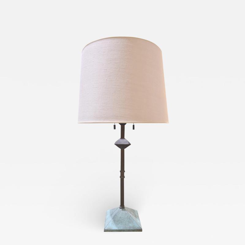 Karl Springer Karl Springer Rare Giacometti Style Table Lamp 1980s signed