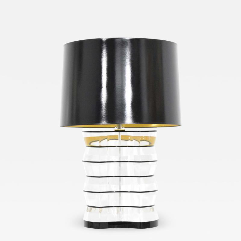 Karl Springer Lucite and Acrylic Table Lamp by Clear Lite