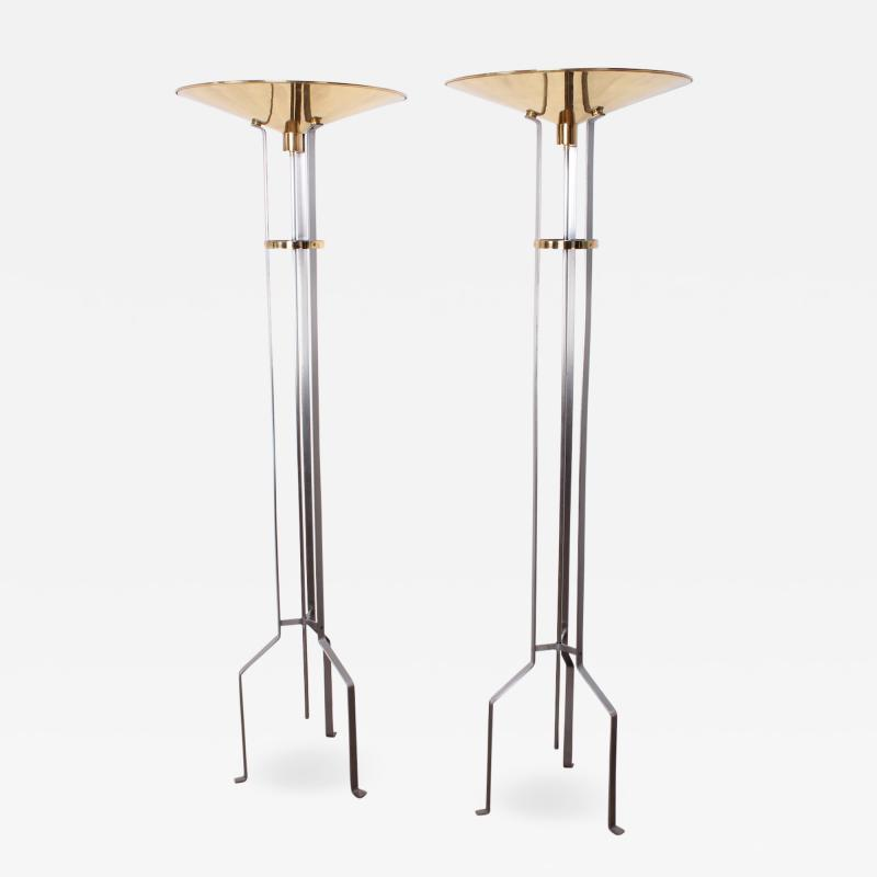 Karl Springer Pair of Touchier Floor Lamps