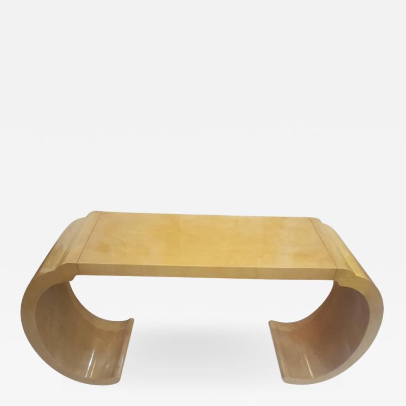 Karl Springer Sculptural Lacquered Console Table in the Karl Springer Manner