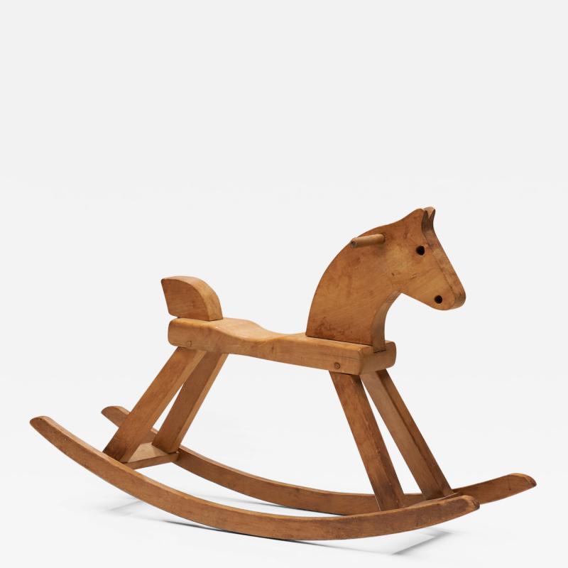 Kay Bojesen Kay Bojesen Beech Rocking Horse Denmark 1936