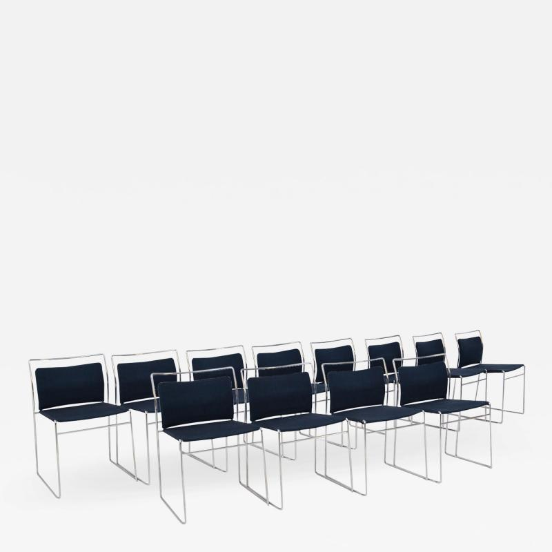 Kazuhide Takahama Set of Twelve Steel and Cotton Chairs by Kazuhide Takahama