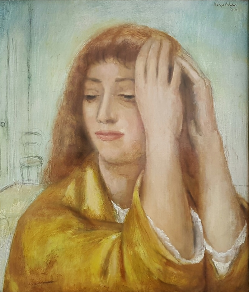 Kenneth Hayes Miller Portrait of a Woman lost in Thought