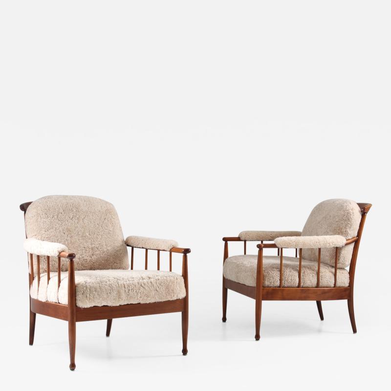 Kerstin H rlin Holmquist Pair of Swedish Lounge Chairs Skrindan by Kerstin H rlin Holmquist for OPE