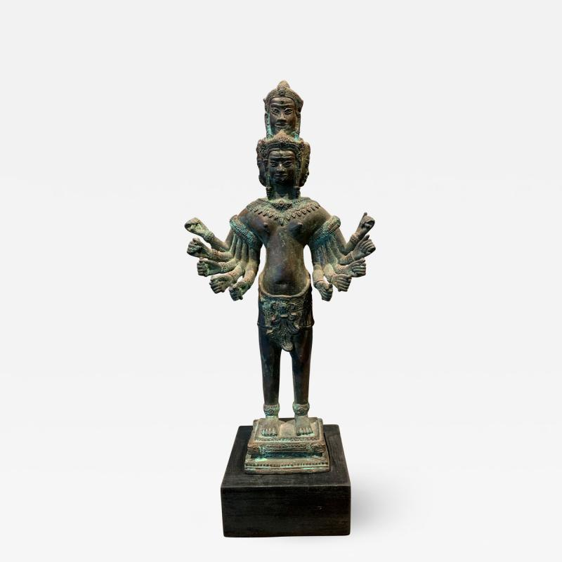 Khmer Bronze Brahma Statue Cambodia