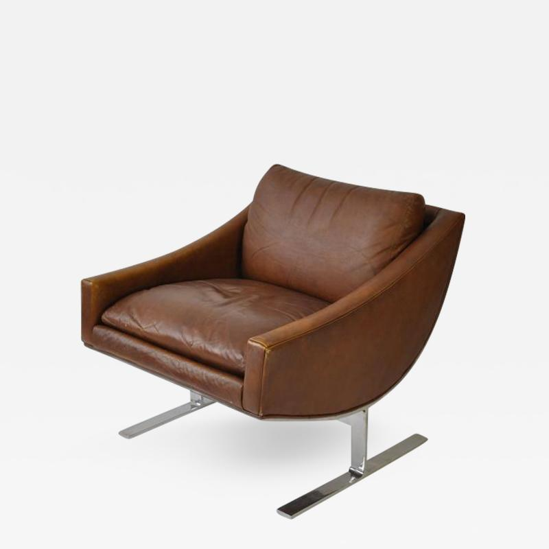 Kipp Stewart Pair of Kipp Stewart Leather Lounge Chairs