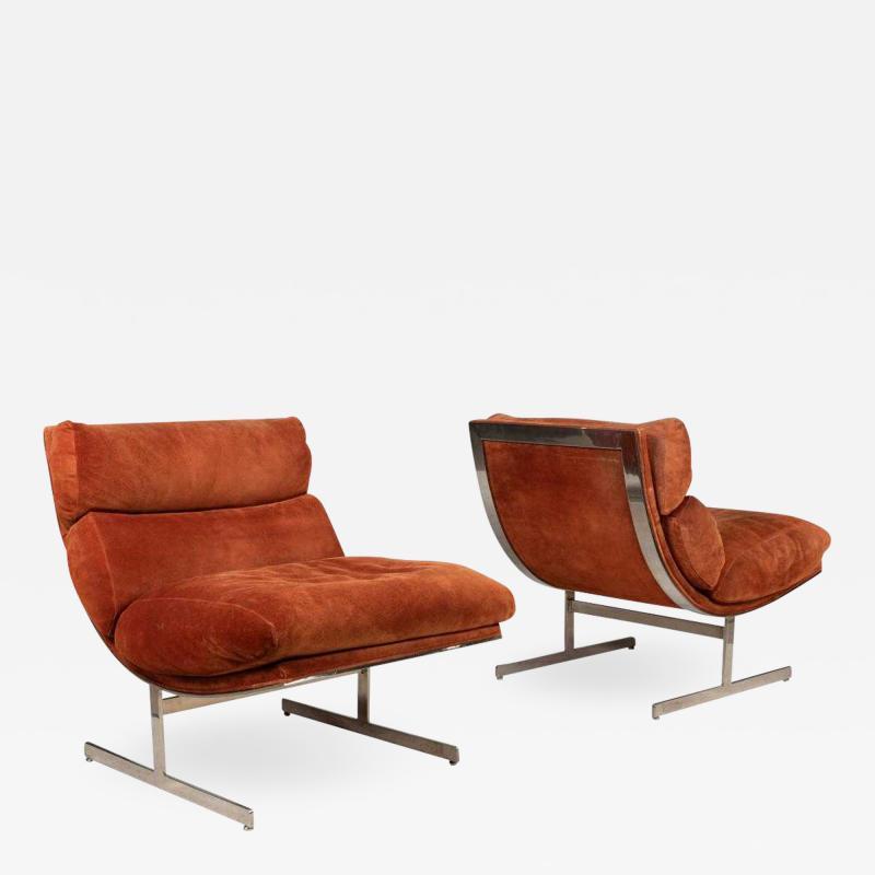 Kipp Stewart Pair of Lounge Chairs by Kipp Stewart for Directional