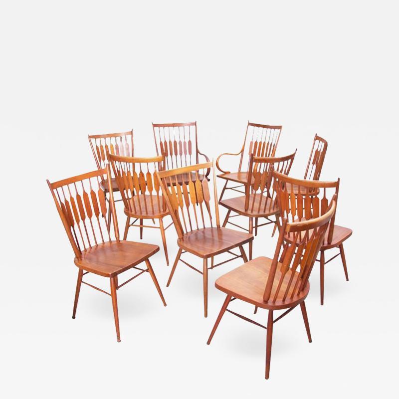 Kipp Stewart Set of Ten Kipp Stewart for Drexel Centennial Chairs