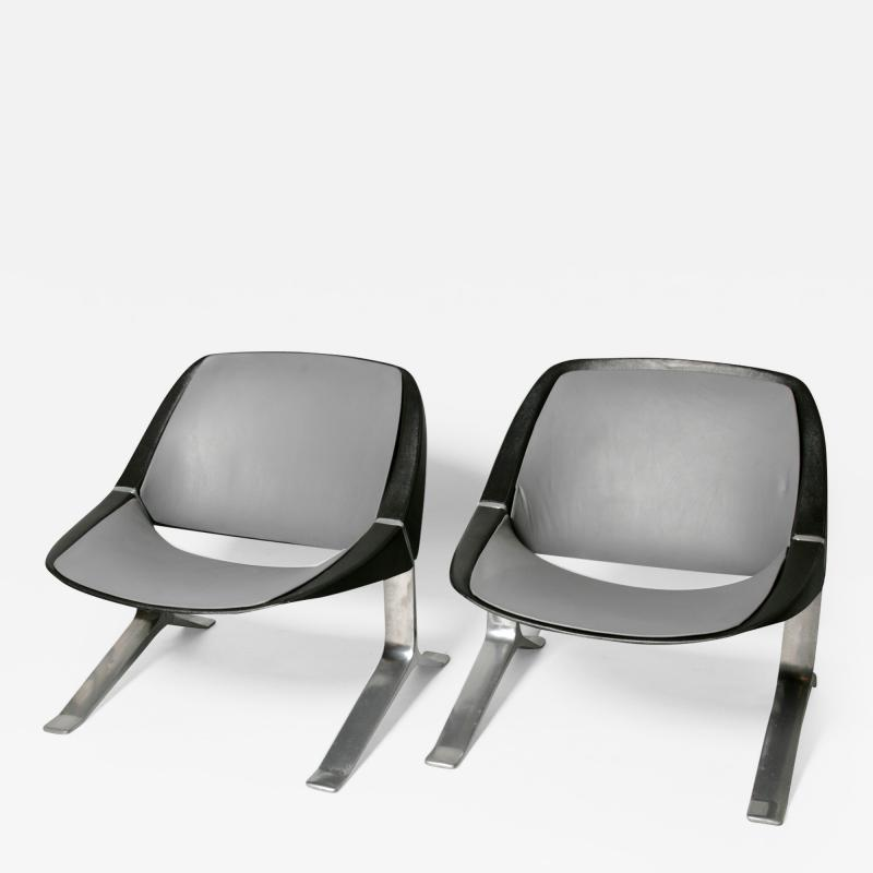 Knut Hesterberg Pair of Mid Century Modern lounge chairs by Knut Hesterberg