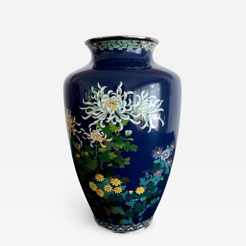 Kodenji Hayashi A Fine Japanese Cloisonne Vase by Hayashi Kodenji
