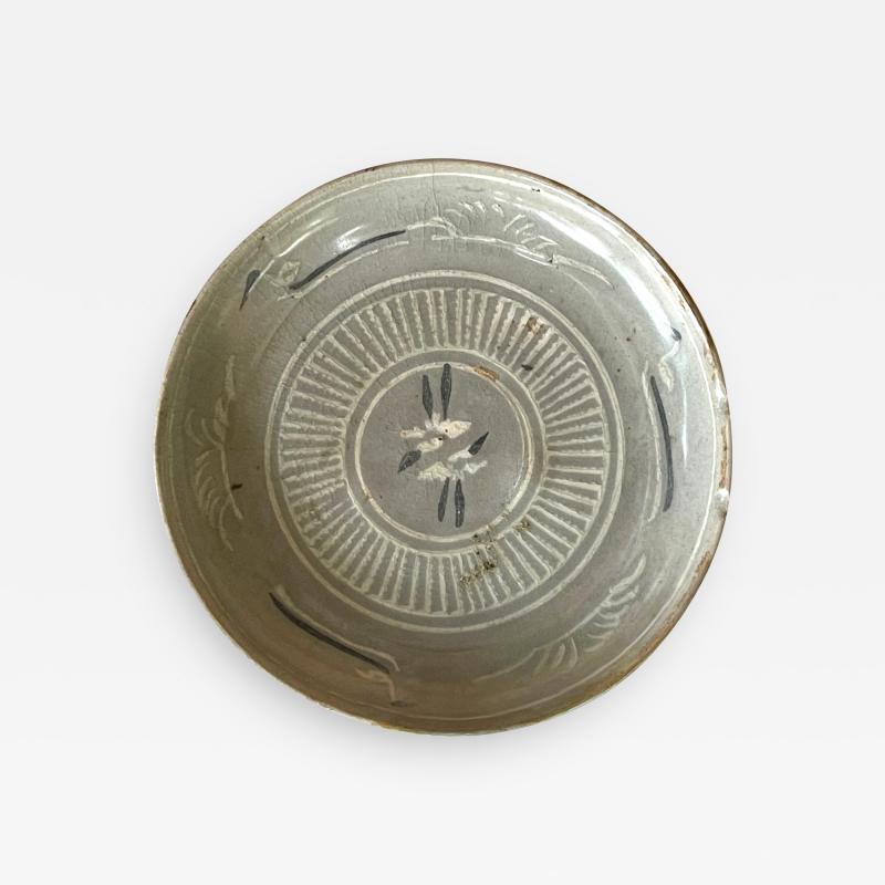 Korean Celadon Inlay Plate Goryeo Period