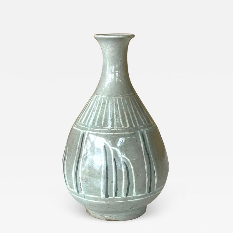 Korean Celadon Inlay Vase Goryeo Dynasty
