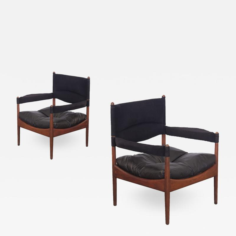 Kristian Solmer Vedel Pair of Kristian Vedel High Back Modus Lounge Chairs
