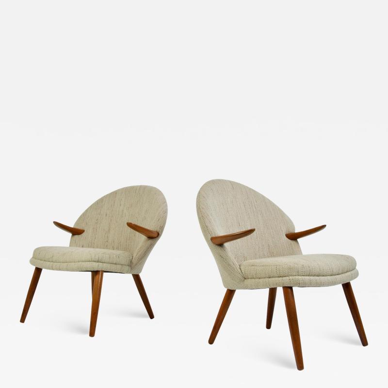 Kurt Olsen Pair of Kurt Olsen Danish Teak Lounge Chairs