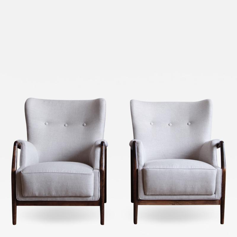 Kurt Olsen Pair of Kurt Olsen Wingback Chairs