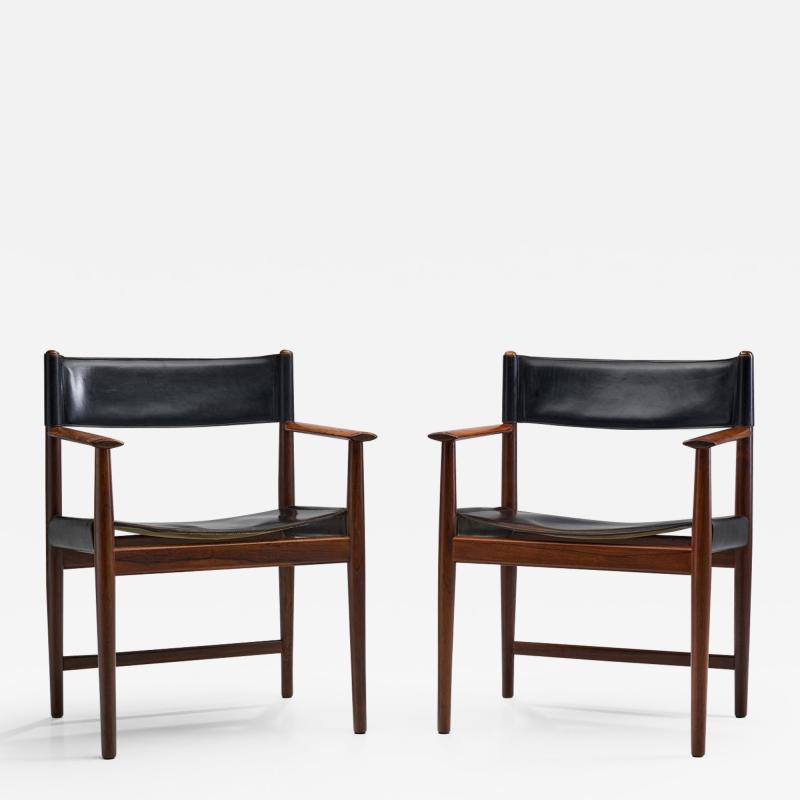 Kurt Ostervig A Pair of Kurt stervig Dining Chairs for Sibast Denmark 1960s