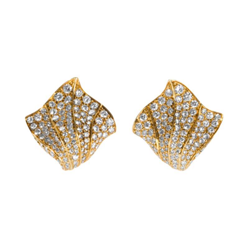 Kurt Wayne Kurt Wayne Diamond and Gold Earrings