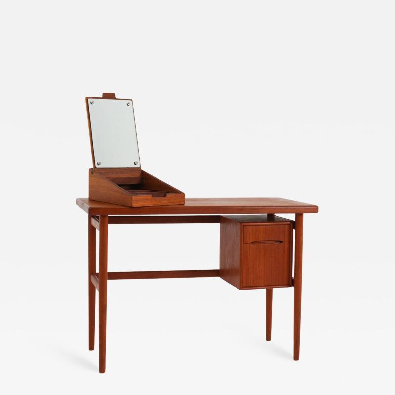 Kurt stervig Danish Vanity Table or Desk in Teak by Kurt stervig Denmark