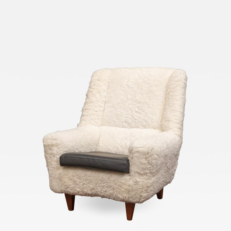 Kurt stervig Kurt Ostervig Kurt Ostervig Lounge Chair Model 61 in Lambswool