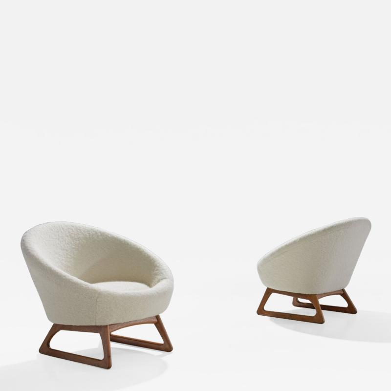 Kurt stervig Pair of Kurt stervig 57A Lounge Chairs Denmark 1958