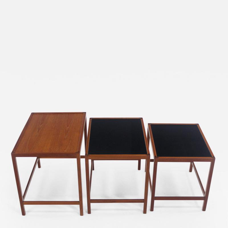Kurt stervig Set of Scandinavian Modern Nesting Tables Designed by Kurt Ostervig