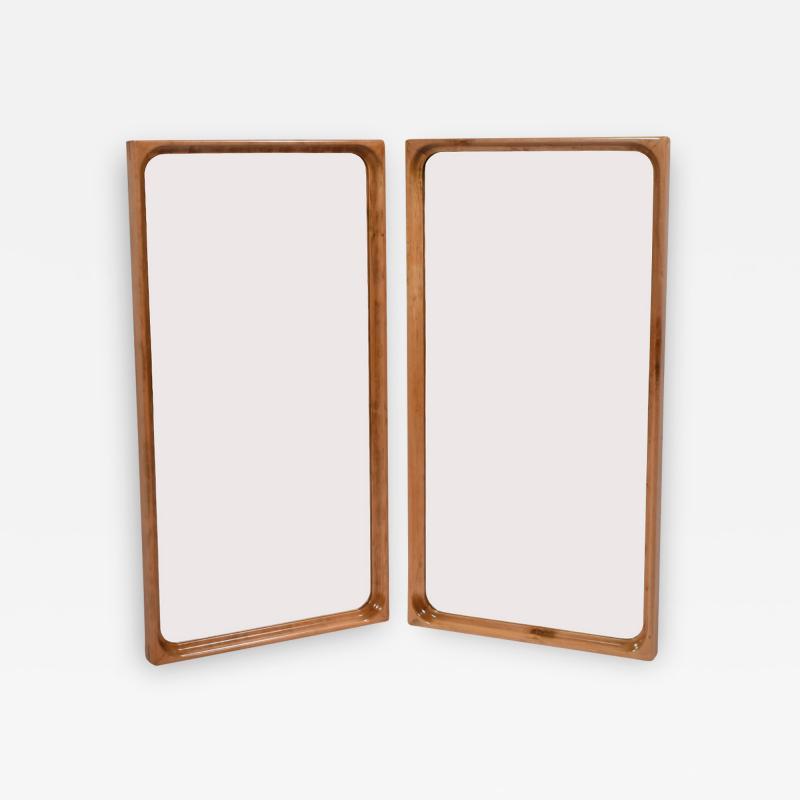 L Chr Larsen Pair of wooden mirrors cabinetmaker L Chr Larsen 1940s