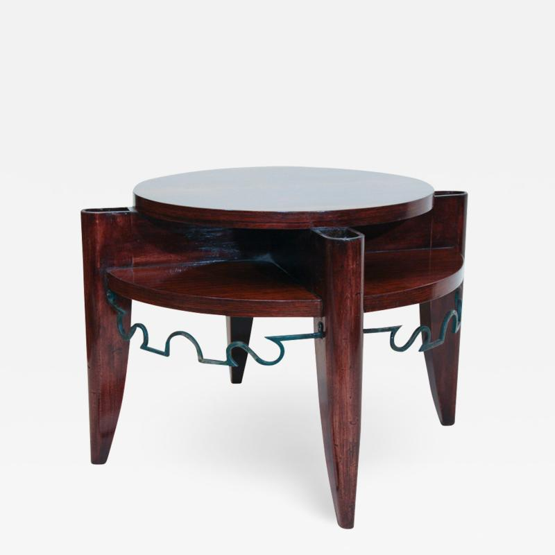 L on Jallot Art Deco Smoking Table by Leon Maurice Jallot