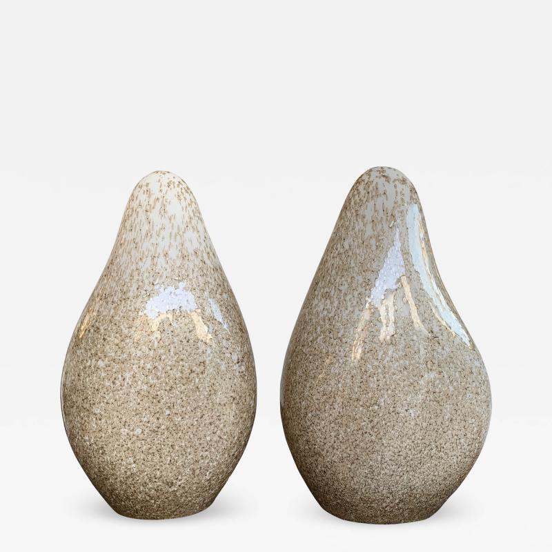 La Murrina Pair of Glass Lamps by La Murrina Italy 1970s