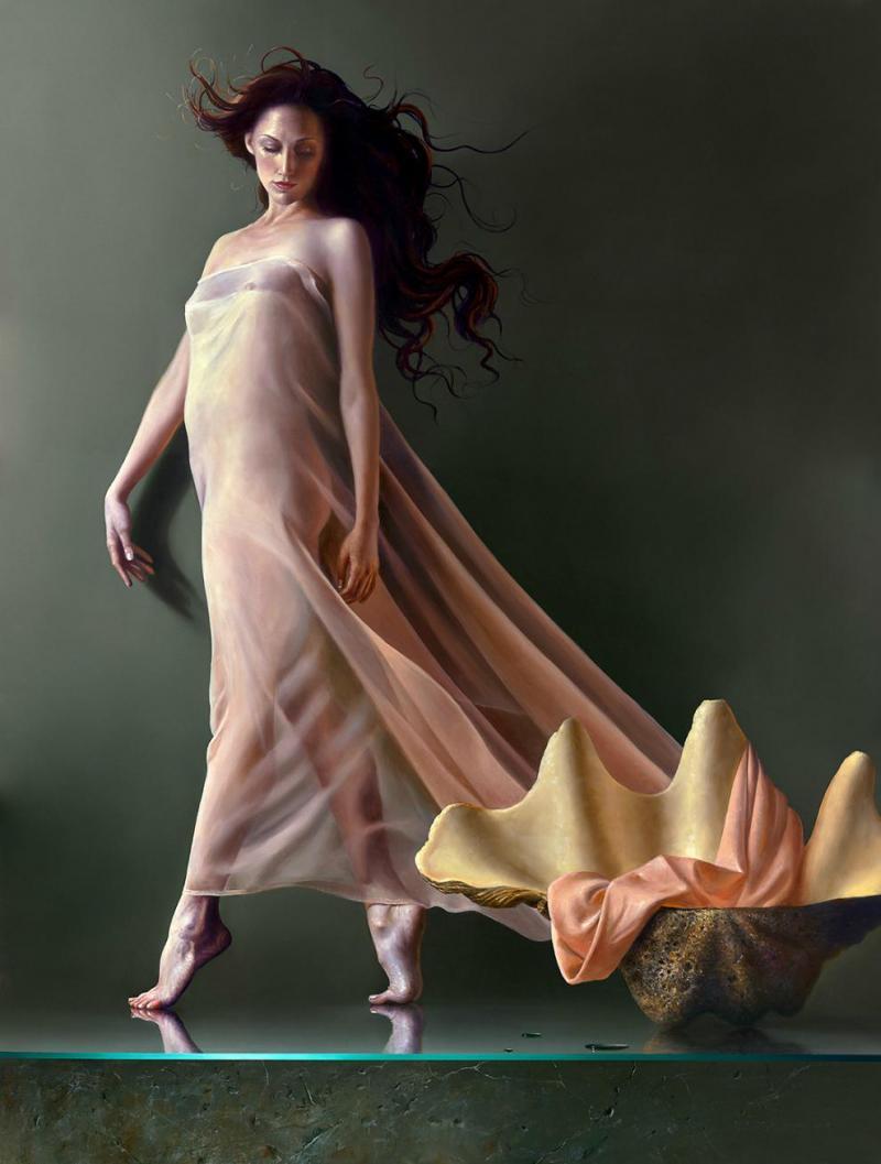 La Perla Contemporary Figurative Giclee by Dario Campanile