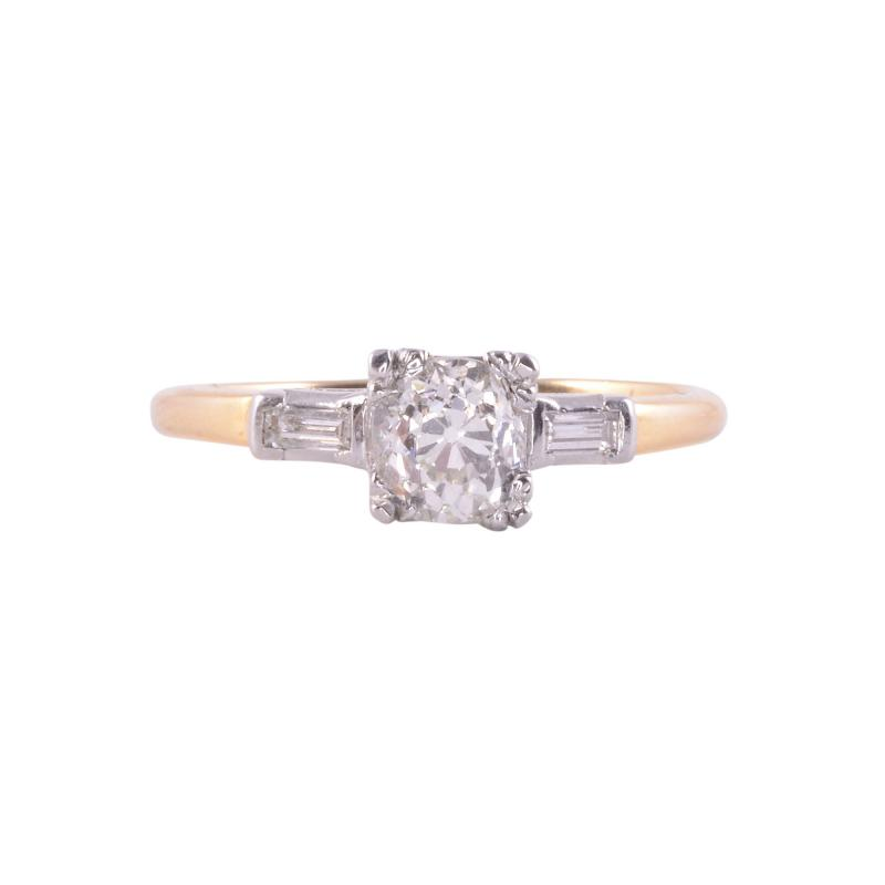 Lambert Bros Art Deco Engagement Ring