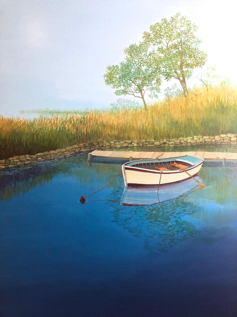 Landscape With Boat On The Lake