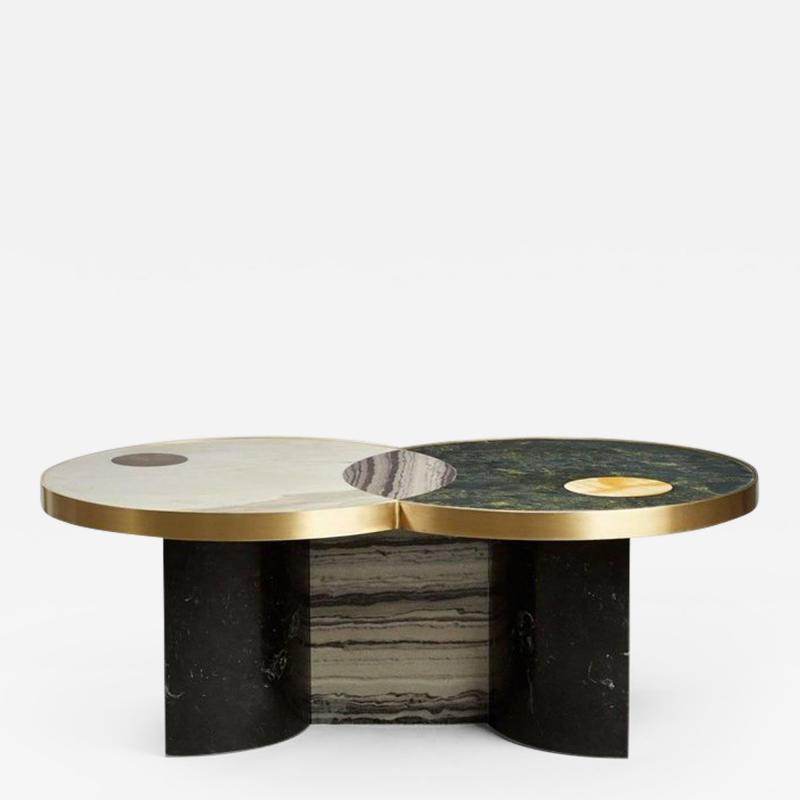 Lara Bohinc Sun and Moon Marble and Brass by Lara Bohinc