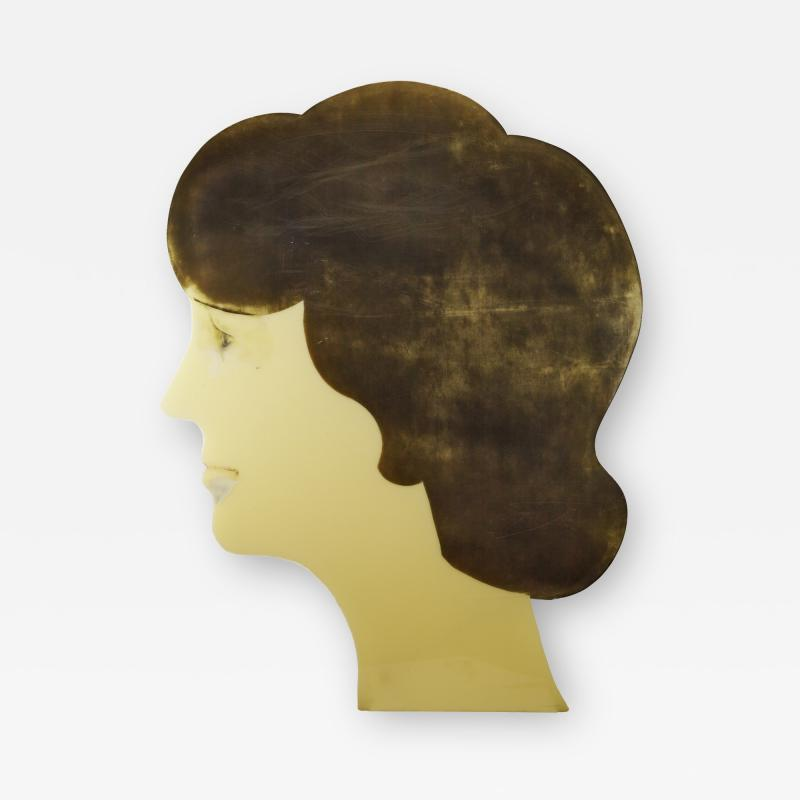 Large Advertising Profile of a Womans Head