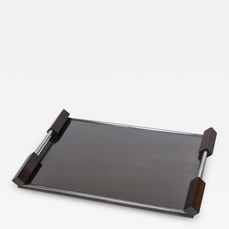 Large Arte Moderne Walnut Serving Tray