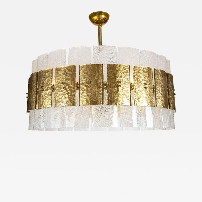 Large Contemporary Murano Light Pendant Italy Circa 2016