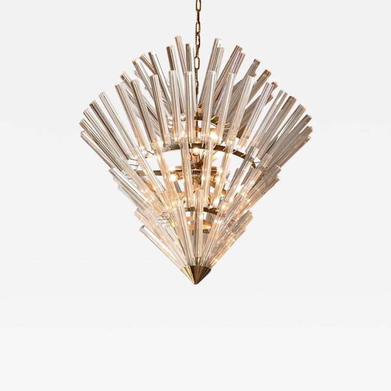 Large Crown of Thorns Chandelier Murano 1970s