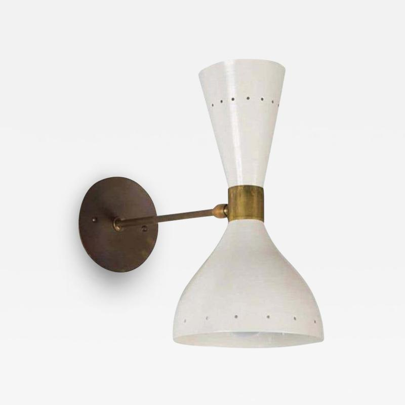 Large Double Cone Italian Sconce in the Style of Stilnovo