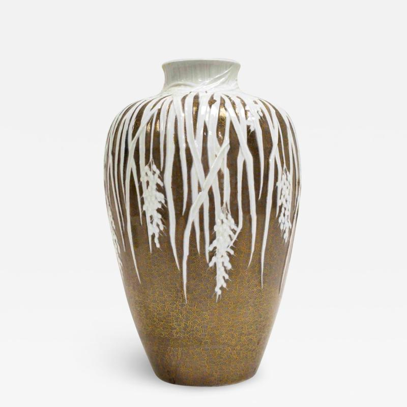 Large Historical Presentation Porcelain Vase Meiji