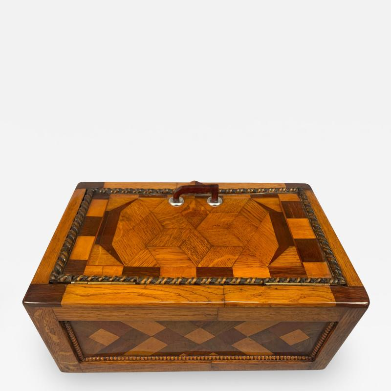 Large Historicism Box Different Hardwoods South Germany circa 1860 1880