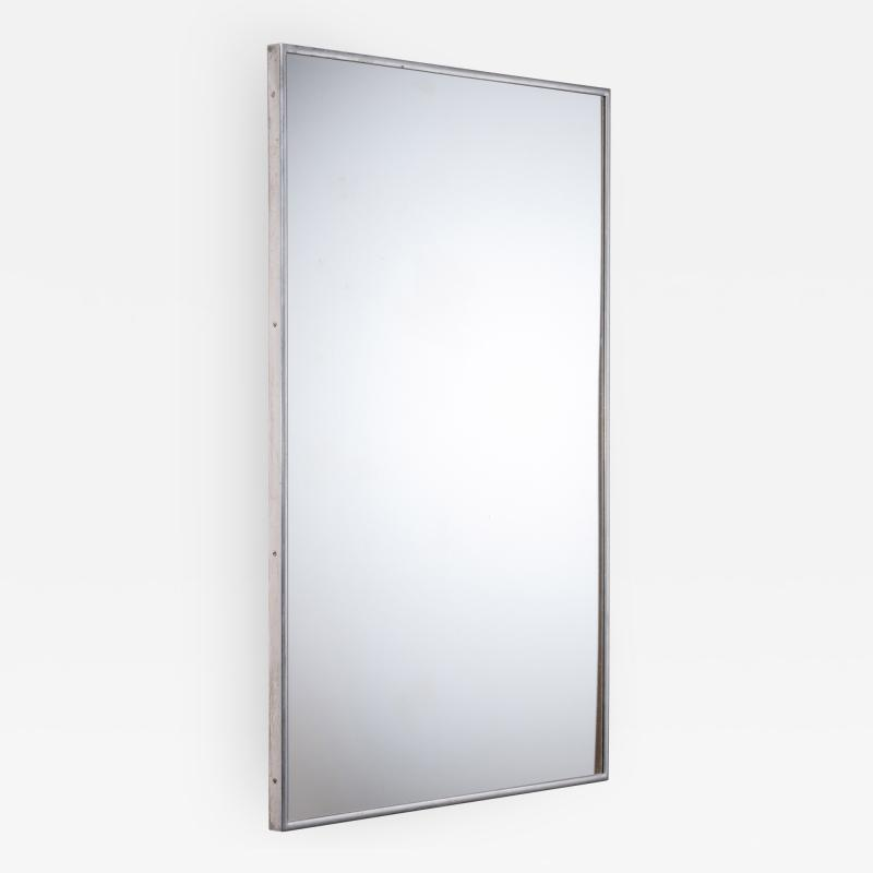 Large Italian Wall mirror with elegant nickel frame
