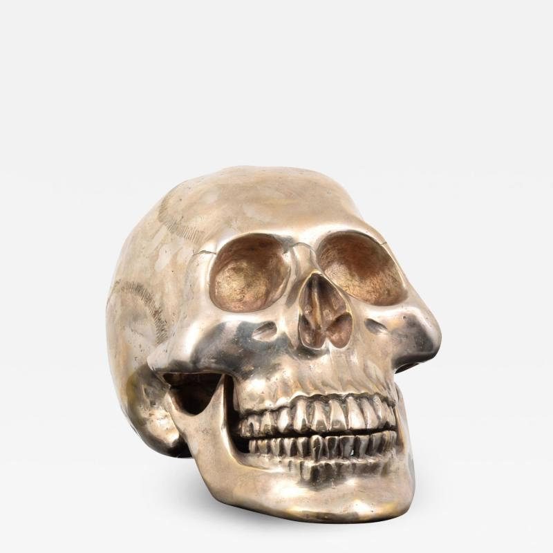 Large Metal Skull Sculpture Manner of Damien Hirst