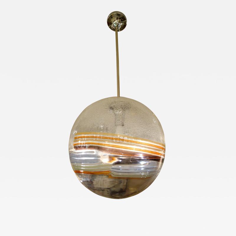 Large Mid Century Italian Murano Glass Multi Color Globe or Chandelier